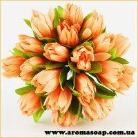 Тюльпани на дроті персикові 20шт