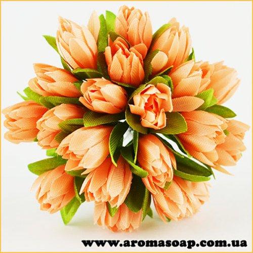 Тюльпаны на проволоке персиковые 20шт