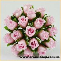 Бутони троянд декоративні рожеві 20 шт