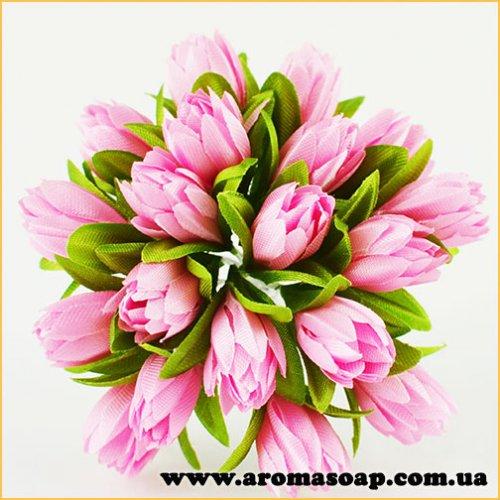 Тюльпаны на проволоке розовые 20шт