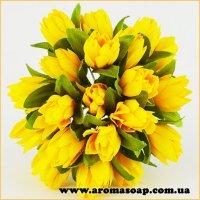 Тюльпани на дроті жовті 20шт