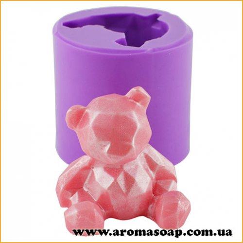Ведмедик рубіновий 3D еліт-форма