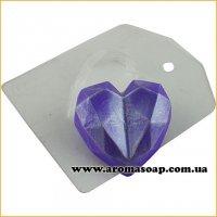 Сердечко з гранями 42 г (пластик)