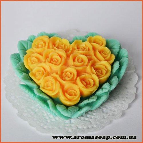 Серце з троянд 3D еліт-форма