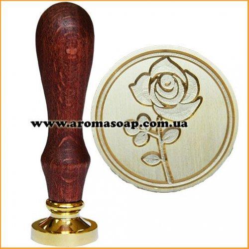 Штамп з ручкою Троянда 1шт