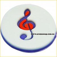 Скрипичный ключ штамп (силикон)