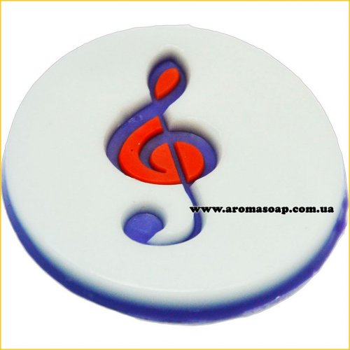 Скрипковий ключ штамп (силікон)