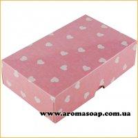 Коробочка сладость розовая в сердечки