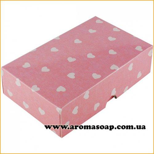 Коробочка солодкість рожева в сердечки