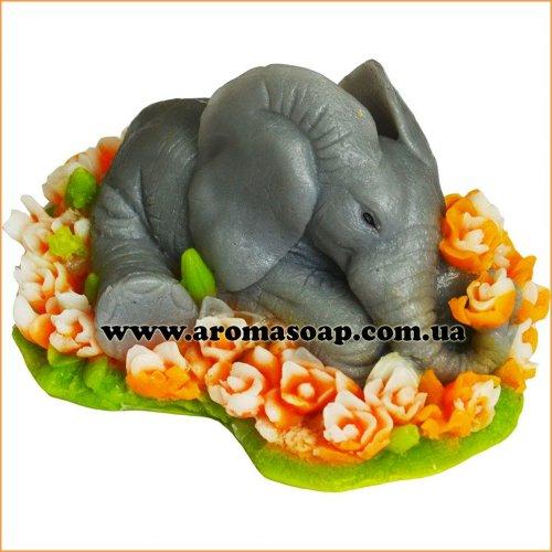 Слоник в розах 3D элит-форма