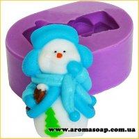 Снеговик в шапке с шарфом элит-форма