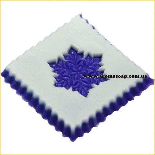 Снежинка 04 штамп (силикон)