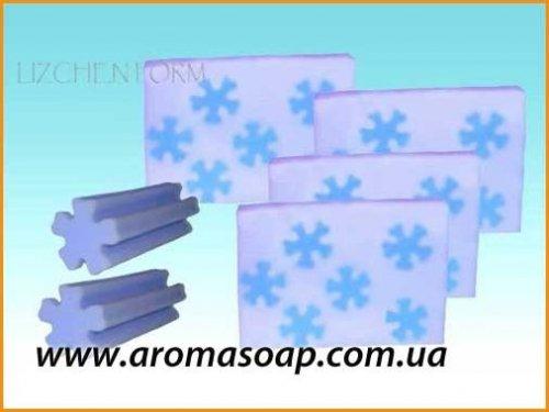 Тубус снежинка (для брускового мыла) элит-форма