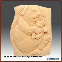 Собачка з ведмедиком на подушці еліт-форма