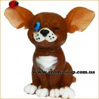 Собачка ушастая с Божьей коровкой 3D элит-форма