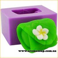 Листик с цветком (спа) 3D элит-форма