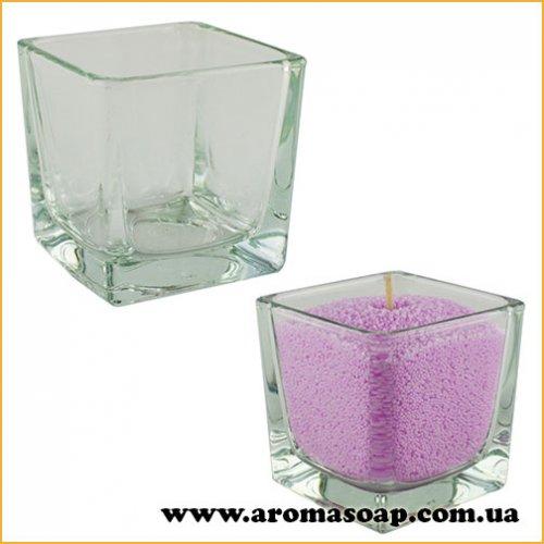 Ваза для насыпной свечи квадрат 100 мл (стекло)