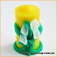 Свеча Букет из калл 3D элит-форма