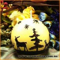 Свічка-куля Лісова казка 3D еліт-форма