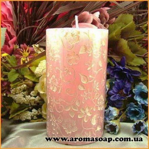 Свічка Квітковий орнамент 3D еліт-форма