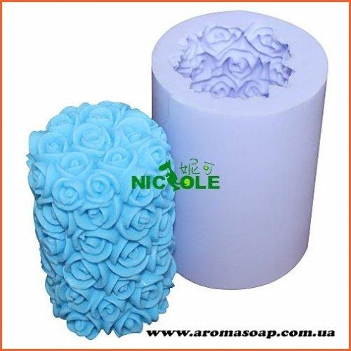 Свічка в трояндочках 3D еліт-форма
