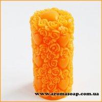 Свеча в сердцах и розах 3D элит-форма