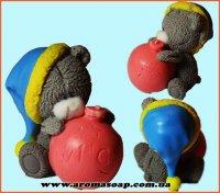 Тедді з ялинковою кулькою 3D еліт-форма