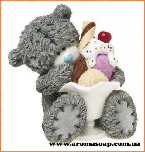 Тедді з морозивом 3D еліт-форма