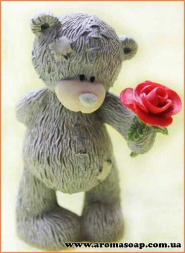 Тедді з трояндою 3D еліт-форма