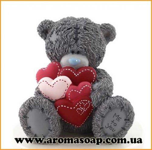 Тедди с сердечками 3D элит-форма