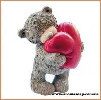 Тедди с сердцем 3D элит-форма