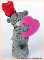Тедди с сердцем и розой №2 3D элит-форма