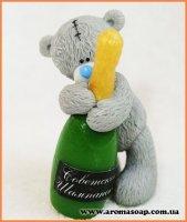 Тедді з шампанським 3D еліт-форма