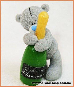 Тедди с шампанским 3D элит-форма