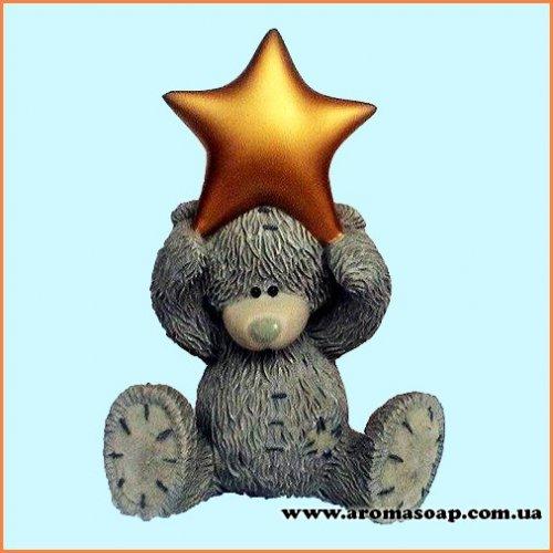 Тедді із зіркою 3D еліт-форма