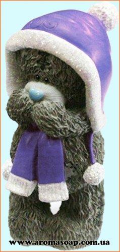 Тедди в шарфе 3D элит-форма