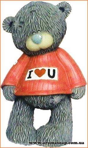 Тедди в свитере I love you 3D элит-форма