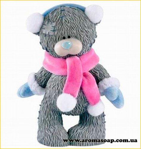 Тедди в варежках и шарфе 3D элит-форма