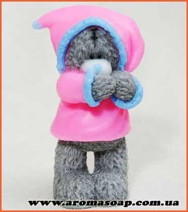 Тедді в зимовій шубці 3D еліт-форма