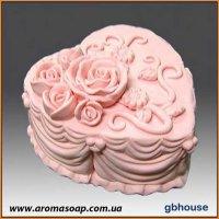 Тортик с розами 3D элит-форма