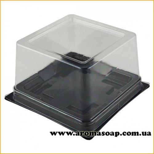 Пластиковая упаковка Квадрат с черным дном
