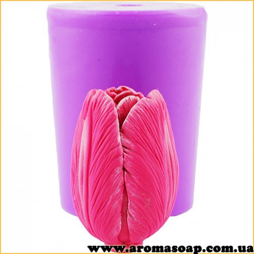 Тюльпан бутон полураскрытый 3D элит-форма