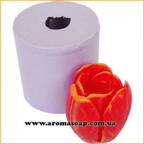 Тюльпан в бутоне для свечей 3D элит-форма