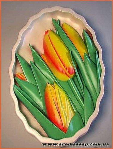 Тюльпаны в овале элит-форма