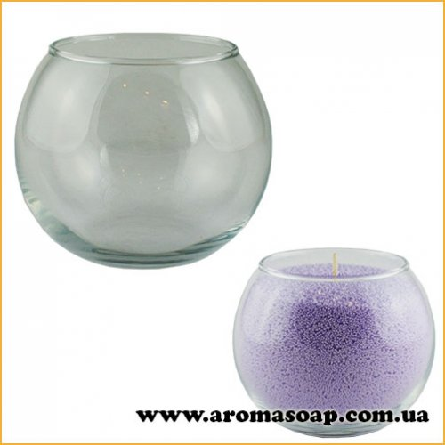 Ваза для насипної свічки Сфера 300 мл (скло)