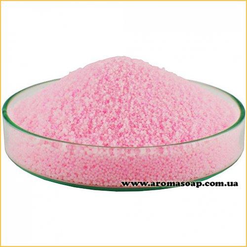 Розовый пальмовый воск для насыпной свечи (гранула)