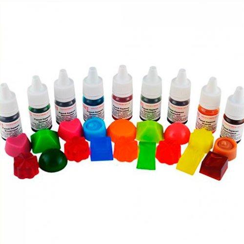Набір з 9шт рідких водорозчинних барвників по 10 мл