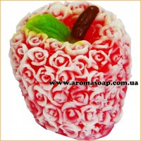 Яблоко в розах 3D элит-форма