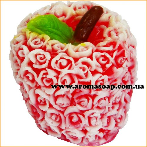 Яблуко в трояндах 3D еліт-форма