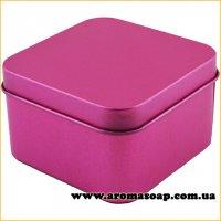 Жестяная подарочная коробочка сиреневая